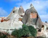 Unique geological formations in Cappadocia, Turkey Stock Photos