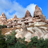 Unique geological formations in Cappadocia, Central Anatolia, Tu Stock Photo