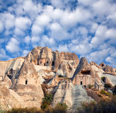 Unique geological formations in Cappadocia, Central Anatolia, Tu Royalty Free Stock Photos