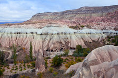 Unique geological formations in Cappadocia, Central Anatolia, Tu Stock Photography