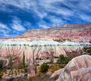 Unique geological formations in Cappadocia, Central Anatolia, Tu Royalty Free Stock Photography