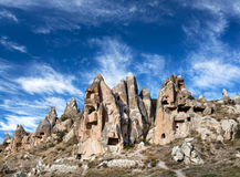 Unique geological formations in Cappadocia, Central Anatolia, Tu Stock Images