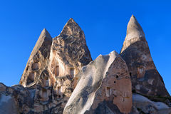 Unique geological formations in Cappadocia, Turkey Royalty Free Stock Photography