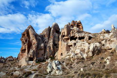 Unique geological formations in Cappadocia, Turkey Royalty Free Stock Photos