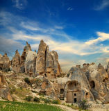 Unique geological formations, Cappadocia, Turkey Royalty Free Stock Photo
