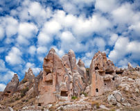 Unique geological formations in Cappadocia, Turkey Royalty Free Stock Photo