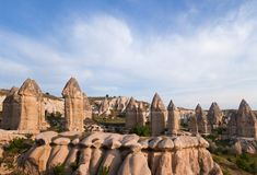 Unique geological formations in Cappadocia, Turkey Royalty Free Stock Image
