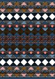 Geometric etnic handmade pattern background. Unique geometric colorfull etnic handmade pattern background   with black, pink, black, red, brown, white, blue Royalty Free Stock Photo