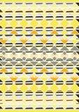 Geometric etnic handmade pattern background. Unique geometric colorfull etnic handmade pattern background   with black, white, yellow, orange colors Royalty Free Stock Image