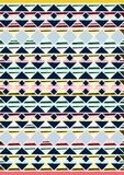 Geometric etnic handmade pattern background. Unique geometric colorfull etnic handmade pattern background   with blue, white, black, red, milk colors Stock Photography