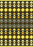 Geometric etnic handmade pattern background. Unique geometric colorfull etnic handmade pattern background   with yellow as main color Royalty Free Stock Photography
