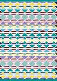 Geometric etnic handmade pattern background. Unique geometric colorfull etnic handmade pattern background   with yellow, white, green, mint, blue colors Stock Photos
