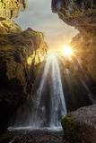 Unique Gljufrabui waterfall Stock Images