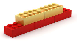 Unique gold blocks Royalty Free Stock Photo