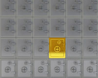 Unique gold safe Royalty Free Stock Image