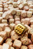 Unique golden dice Royalty Free Stock Photos