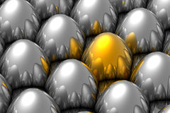 Unique golden egg Royalty Free Stock Images