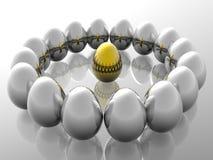 Unique golden egg Stock Images