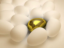 Unique golden egg Stock Image