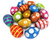 Unique golden egg among Easter Eggs Stock Image