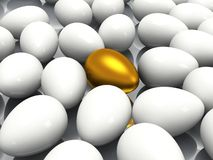 Unique golden egg Royalty Free Stock Image