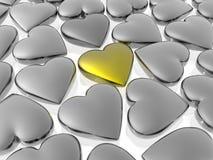 Unique golden heart Stock Photos