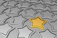 Unique golden star Stock Photography