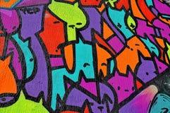 Unique graffiti wall Royalty Free Stock Photo