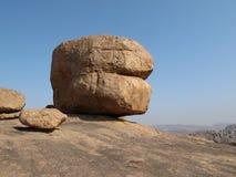 Unique granite boulder Stock Images