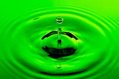 Unique Green Water Drop Royalty Free Stock Images