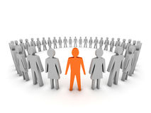 Unique. Group of People. Concept 3D illustration Stock Photography