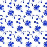 Unique hand drawn abstract floral background. Royalty Free Stock Image