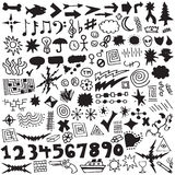 Unique Hand Drawn Design Element Vector Set. Collection of over 120 unique, hand-drawn design elements in format stock illustration