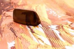 Unique handmade dark chokolate sweets Stock Photo