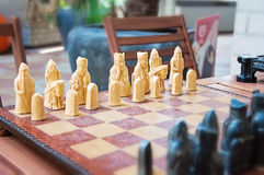 Unique Handmade Wax Chess Pieces Royalty Free Stock Photo