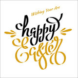 Unique handwritten lettering Happy Easter on a white background_ Stock Image