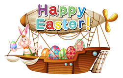 A unique happy easter greeting. Illustration of a unique happy easter greeting on a white background Royalty Free Stock Image