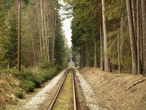 Unique historic narrow-gauge railway. South Bohemia stock image
