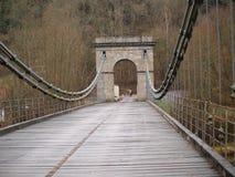 Unique historical empire Chain Bridge , south Bohemia. Czech Republic Royalty Free Stock Photo