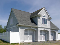 New Two Story White Siding Stock Image Image Of
