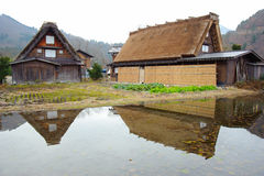 Unique Home Style of Ogimachi Village in Shirakawago Royalty Free Stock Image