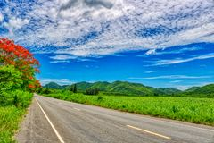 Highway through Thailand`s nature stock photography