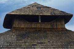 Unique Individual roof natural tile residential home Royalty Free Stock Image