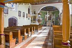 Old church interior Stock Photo
