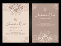 Invitation card luxury template design in vintage style royalty free stock image
