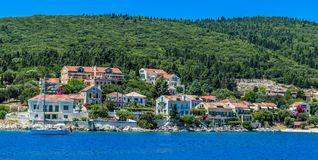 Phiskardo in Kefalonia Greece. The unique island of Kefalonia and the Fiskardo area. A small but wonderful island with traditional Greek elements Stock Images