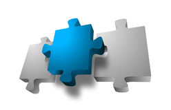 Unique Jigsaw Piece Royalty Free Stock Photography