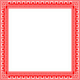 Unique knitted frame with geometric ornament Royalty Free Stock Image
