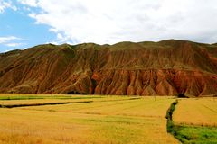 The Unique landforms of Gansu,China. The Unique landforms of Gansu, located in  Gansu province , China Royalty Free Stock Photos
