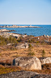Unique landscape of coastal Nova Scotia Stock Photography